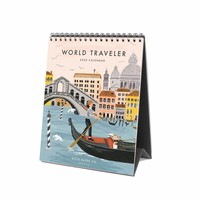 2020 World Traveler Desk Calendar
