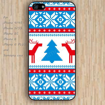 iPhone 5s 6 case snow Christmas deer tree fashion dream phone case iphone case,ipod case,samsung galaxy case available plastic rubber case waterproof B721