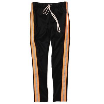 Reflective Track Pants Black / Orange