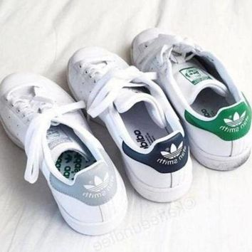 CREY1O Adidas Old Skool Casual Stan Smith Print Sport Sneakers Sport Shoes