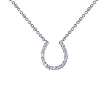 Lafonn Simulated Diamond Horseshoe Necklace