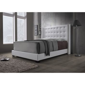DG Casa Savoy Wingback White Bed | Overstock.com Shopping - The Best Deals on Beds