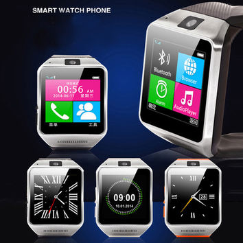 """Free DHL Smart Watch phone 1.54 inch 1.54"""" 1.3MP SIM Card Pedometer GV08 SmartWatch Sync Call SMS Anti-lost"""