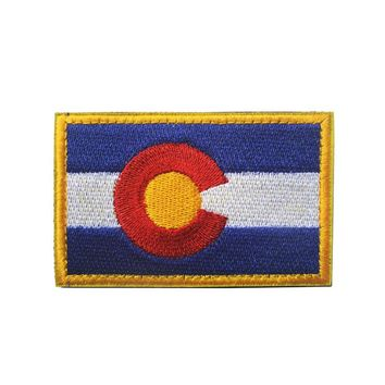 Colorado State Flag Tactical Morale Patches