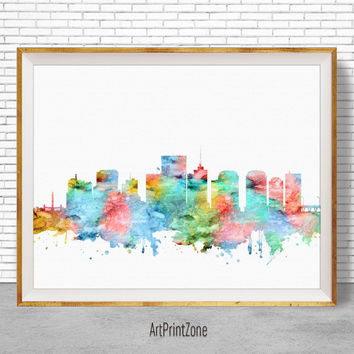 Richmond Virginia, Richmond Skyline, Richmond Print, Office Decor, City Skyline Prints, Office Wall Art, Cityscape Art, ArtPrintZone