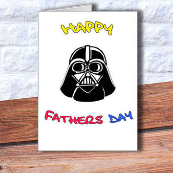 INSTANT DOWNLOAD Happy fathers day card Darth Vader card, Star Wars printable, Dad,You are my father, Darth Vader print, father's Day Print