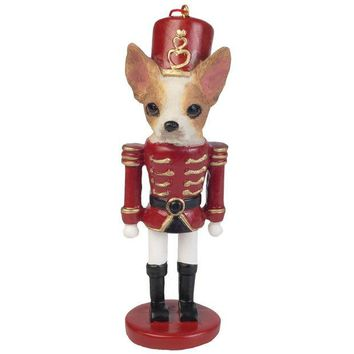DCCKU3R Chihuahua Nutcracker Christmas Ornament