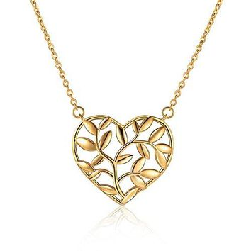 Heart Tree Branches Necklace - Nature Inspired Necklaces For Women