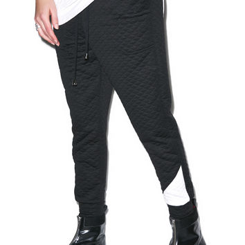 EPTM. Quilted Officer Jogger Pants Black