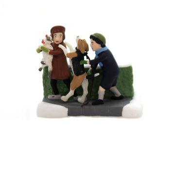 Department 56 Accessory CHRISTMAS TAILS Porcelain Christmas In The City 6003064