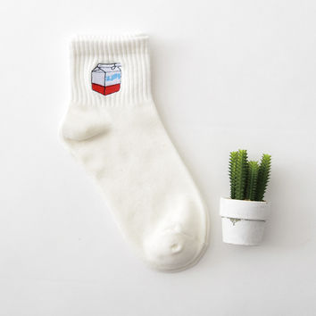 Milk & Plant 2 Pair Crew Socks Set