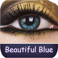 Coloured Contact Lenses | Beautiful Blue Big Eyes Contact Lenses