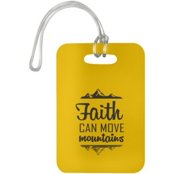 Faith Can Move Mountains Luggage Bag Tag
