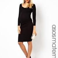 ASOS Maternity Bodycon Dress With Sweetheart Neck at asos.com