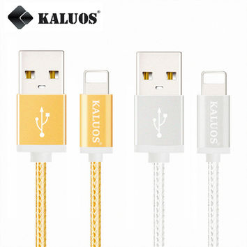 KALUOS High Speed Phone Charger USB Charge Data Sync Cable For iPhone 5 5S 6 6S 7 Plus iPad 4 mini 2 3 Air 2 Fast Charging Cable