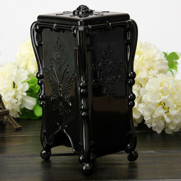 Butterfly Roses Makeup Cosmetic Storage Case Container