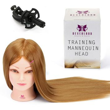 Salon Practice Cut Practice Mannequin Head Hairstyles Doll 24 Inch 50% Real Hair High Quality Training Head + Clamp Manikin Doll