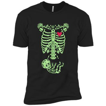 Pregnancy Halloween Costume Mexican Day Of The Dead  Next Level Premium Short Sleeve Tee