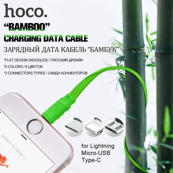HOCO 5V Charging USB Cable Charger For Apple Lightning Charge Wire Type C Micro USB Cables Cord for Mobile Phone Data Line Sync