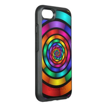 Round and Psychedelic Colorful Modern Fractal Art OtterBox Symmetry iPhone 7 Case