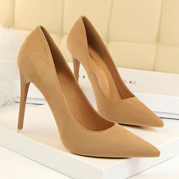 Shoes Women High Heels Pumps Pointed Toe Women Heels Pumps Ladies Shoes Thin High Heel 9511-1