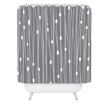 Heather Dutton Gray Entangled Shower Curtain