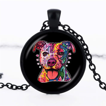 Pit Bull Dog Necklace American Pit bull Terrier Pet Puppy Rescue Pendant Bulldog Jewelry for Animal Lover Accessories  FREE SHIPPING