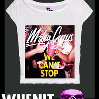 Miley Cyrus we cant stop exclusive hand print tank top women t shirt 20431