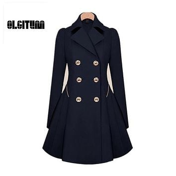 Trench 2017 Hot Sale Women Coat Classic waist was thin Coat Windbreaker Women Trench Female Long Sleeve Trench Coat S-4XL