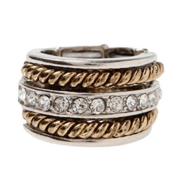 Takeova Rope and Rhinestone Stretch Ring