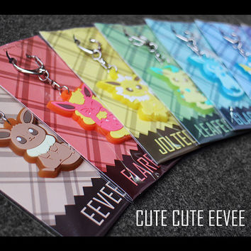 Pokemon Eevee Family key chain