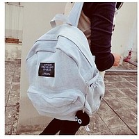 White Denim Backpack