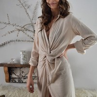Afternoon Delight Twist Front Midi Dress