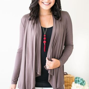 Fly Away Taupe Cardigan