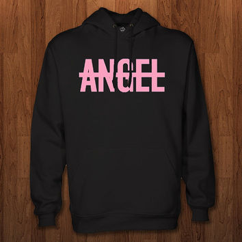 No Angel Hoodie for size s-3xl, for color black, white, gray, and red