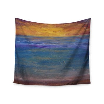 "Cyndi Steen ""Sky On Fire"" Multicolor Orange Wall Tapestry"