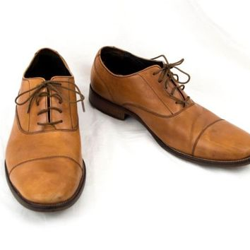Cole Haan Shoes Size 10.5  Tan Cap Toe Oxford Lace Up C12337 FG14  EU 43.5