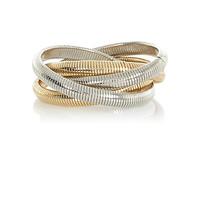 River Island Womens Mixed metal twisted slinky bracelet