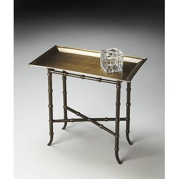 Meiling Antique Brass Tray Table by Butler Specialty Company 2399025