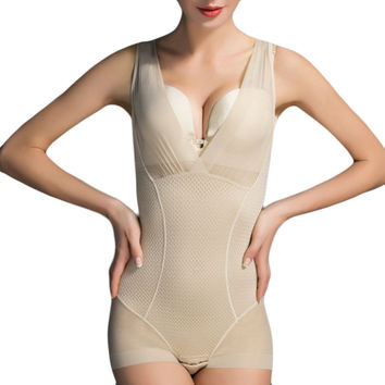 Women's Seamless Full Body Shapewear Slimming Shape Underwear Lady Nude Slip Corrective Bodysuit Underbust Shapewear