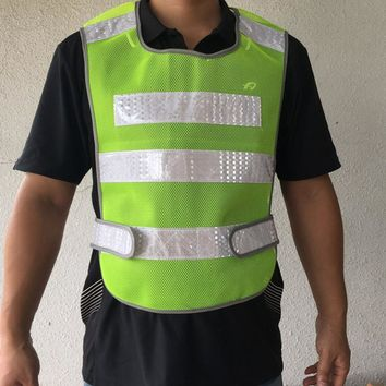 Adjustable size reflective safety vest,safety jacket for road safety use,adjustable elastic side,free shipping