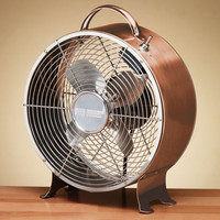 Retro Metal Fan - Copper