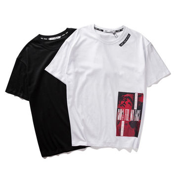 Men's Fashion Pattern Print Men Short Sleeve T-shirts [10199591367]