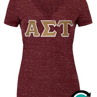 CUSTOM Bella Ladies V Neck Greek (Sorority) Letter Shirt -- Makes a GREAT gift!