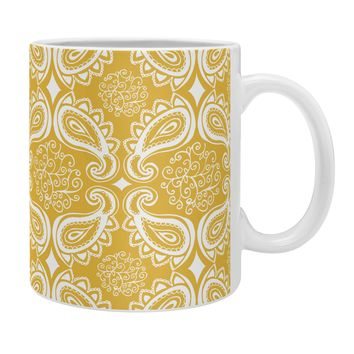 Heather Dutton Plush Paisley Goldenrod Coffee Mug