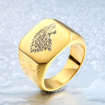 Game of Thrones a song of Ice and Fire Wolf Silver Ring