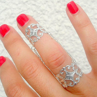 Slave Ring - Slave Rings - Chain Rings - Armor Ring, Slave Ring , Filigree Chain Rings by Tiny Box