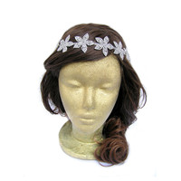 Wedding Flower Headpiece Bridal Crown Rhinestone Flapper Headpiece Wedding Hairpiece 20s Headpiece Great Gatsby