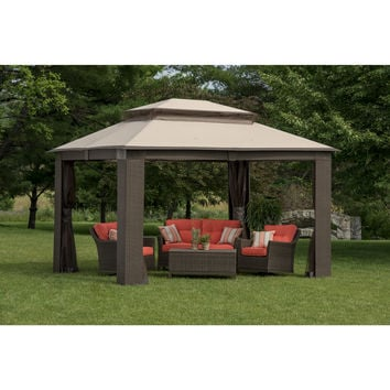 Berkley Jensen Antigua Wicker and Aluminum Gazebo