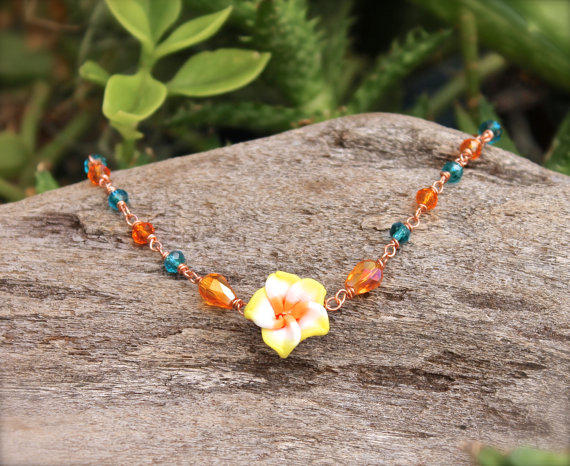 Plumeria Jewelry made in Hawaii - from Mermaid Tears | gypsy